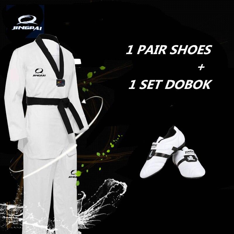 Chaussures adultes Tae kwon do combinaison WTF taekwondo avec des uniformes ITF Taekwondo Dobok Mooto