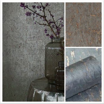 2018  New Product Dark Grey Cork Natural Wood Wallcovering  Moden Style Soundproof Wallpaper For Office Design