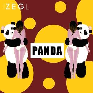 Image 3 - ZEGL בעלי החיים שרשרת פנדה שרשרת אישה תליון עצם הבריח שרשרת בסגנון סיני שרשרת צוואר שרשרת