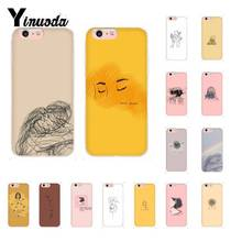 Yinuoda Retro Art line pair Soft Silicone Phone Case for iPhone X XS MAX  6 6s 7 7plus 8 8Plus 5 5S SE XR 11 11pro 11promax yinuoda sweet world space art diy printing phone case for iphone x xs max 6 6s 7 7plus 8 8plus 5 5s xr 10 case 11 11pro 11promax