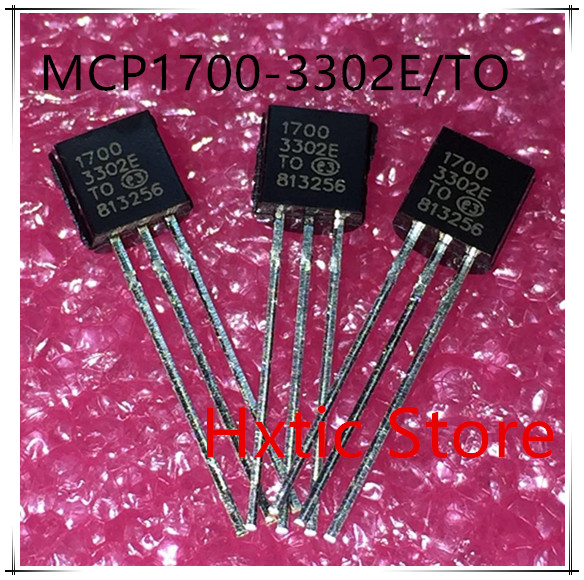 10pcs/lot MCP1700-3302E/TO MCP1700-3302E MCP1700 1700 3302E REG LDO 3.3V 0.25A TO92-3