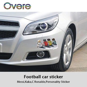 Overe Cartoon Car Headlight Body Stickers Football Stars Styling For BMW E60 E36 E46 E90 E39 E30 F30 F10 F20 X5 E53 E70 E87 E34 image