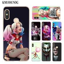 Transparent Soft Silicone Phone Case Hero Joker and Harley Quinn for Xiaomi A1 A2 8 F1 Redmi S2 Note 4X 5 6 5A 6A Pro Lite Plus(China)