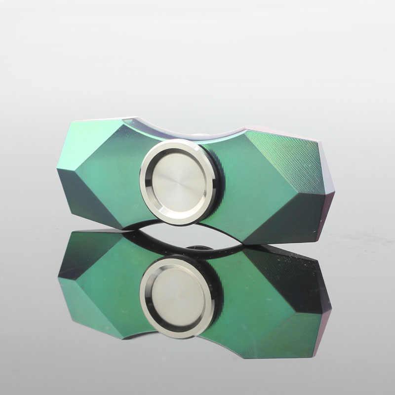 Красочные алмазные Спиннеры ручной finger Widget антистресс Топ вращение спиннинг Титан зеленый EDC металлическая Золотая игрушка для взрослых