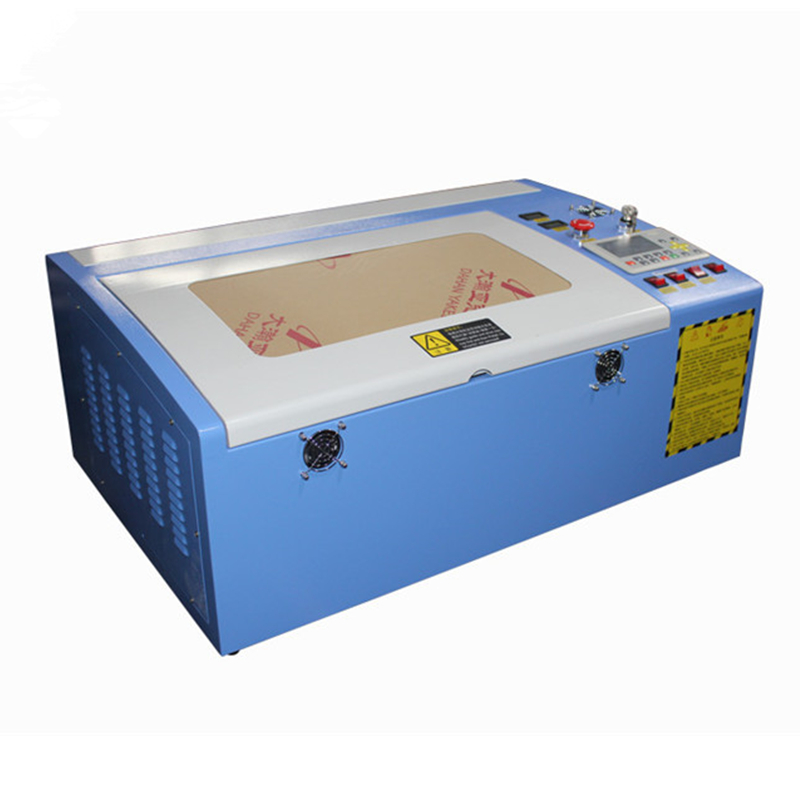 Free shipping 3040 50W color touch screen Ruida laser cutting machine HF 3040 co2 50w automatic cloth cutting machine - 3