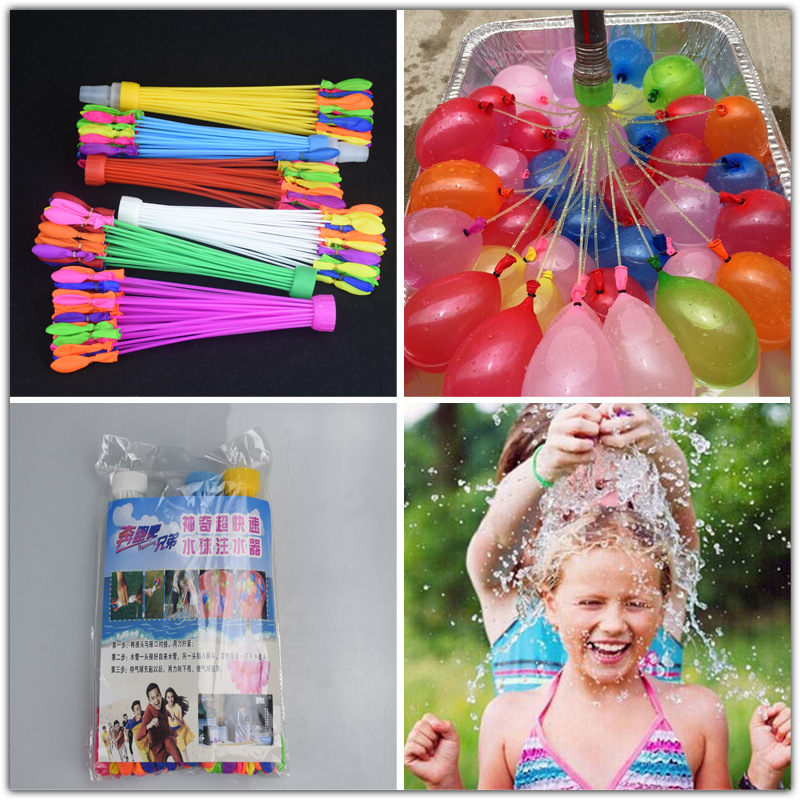 ФОТО 111pcs/bag bunch of balloons water balloons bombs filling water balloons funny toy balloons outdoor children funny toys xq30