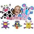 Nuevos Animales Marioneta de Dedo BRICOLAJE Bolsa de Papel Títeres Juego Aprenda educativos Baby Doll Mano de Peluche de Juguete Marionetas Del Dedo de la Historieta del Cabrito regalo