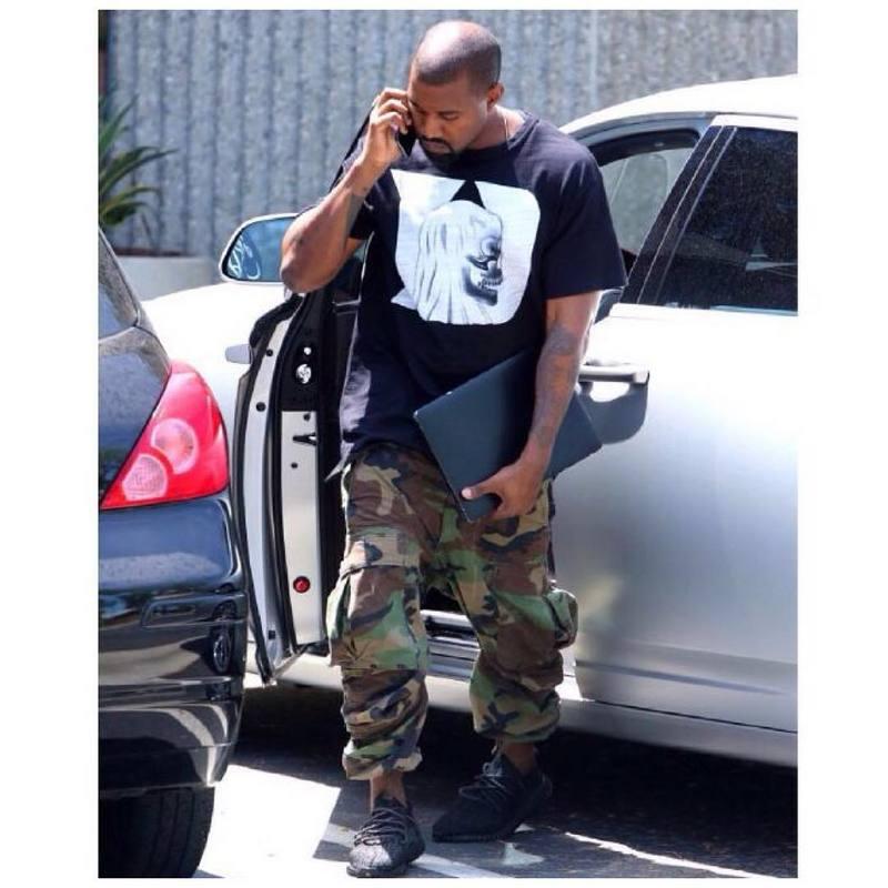 Men Baggy Army Camo Cargo Pants Men S Camo Joggers Kanye West High