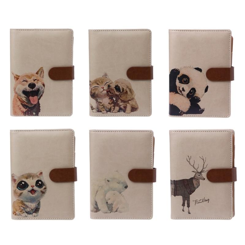 1 Pc Leather Notebook Kawaii Panda Dividers Planner A6 Binder Travel Diary Journals New Design anne klein часы anne klein 9786cmrg коллекция crystal