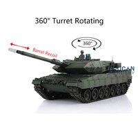 Henglong 1/16 verde 6.0 versão combate infravermelho leopard2a6 rtr rc tanque 3889 faixas de metal barril recoil th12770|Tanques RC|   -