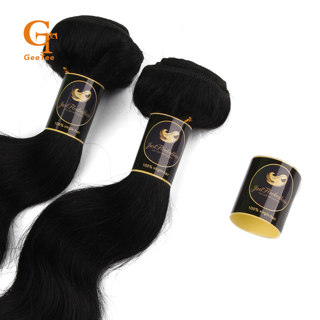 Custom Brand Name Virgin Hair Extensions Bundle Wrap Stickers