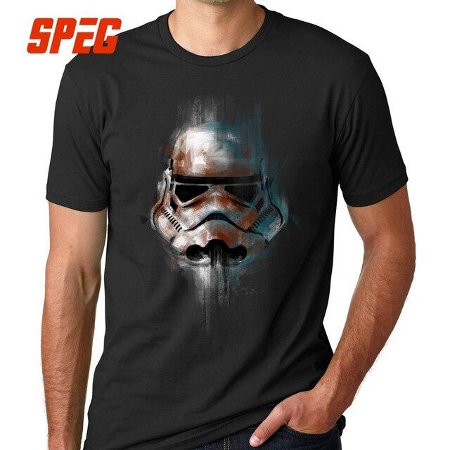 T-shirt Do Homem Camiseta Star Wars StarWars Homens Tops Stormtrooper Imperial Aptidão Tees de Manga Curta de Algodão Roupas de Marca de Luxo