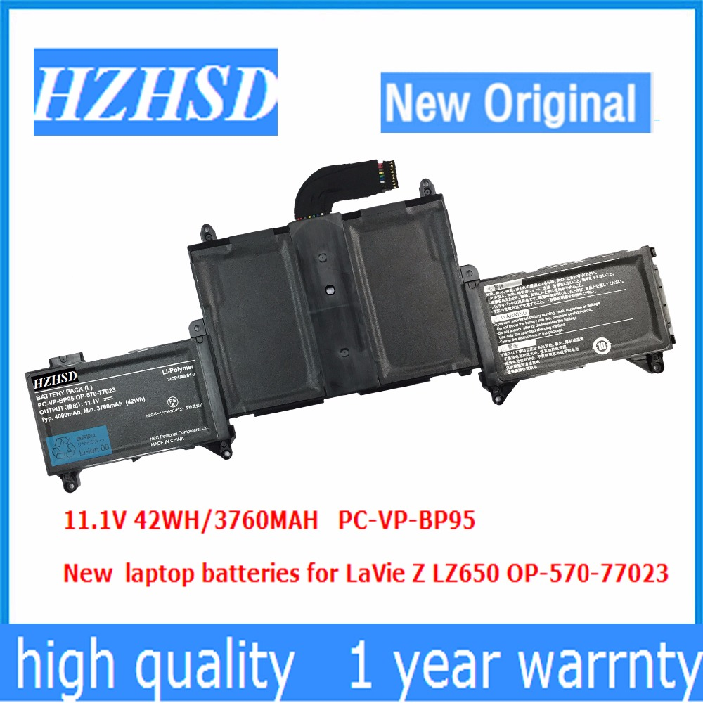 11.1v 42wh 3760mah New Original PC-VP-BP95 Laptop Battery For NEC LaVieZ LZ650 PC-VP-BP95 OP-570-77023