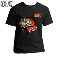 2019 summer Camisetas AC/DC band rock T Shirt Mens acdc Graphic T shirts Print Casual t shirt O Neck Hip Hop Short Sleeve Top N