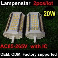 Best продвижение R7S 30 Вт 3000lm 118 мм 64 SMD5730 теплый белый/белый Светодиодная лампа 85-265 В