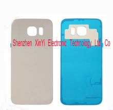 10Pcs/lot New High Quality Battery Back Cover glass Housing Door with Adhesive For Samsung Galaxy S6 G920 G9200 Free Shipping