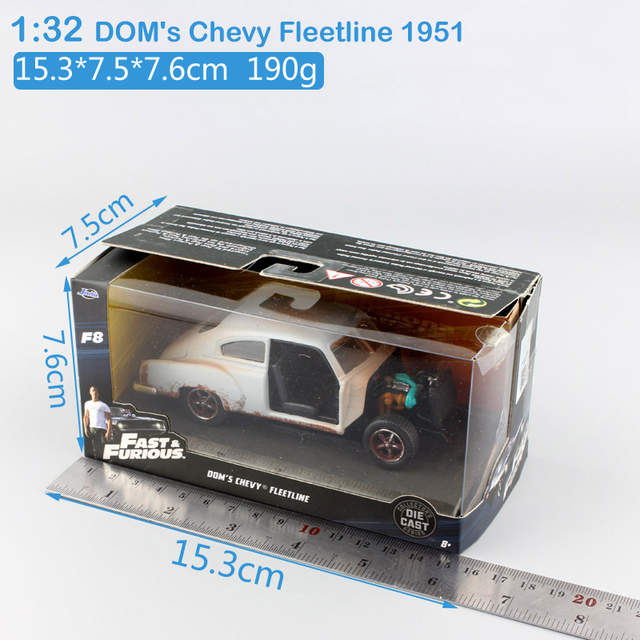 1:32 Scale jada Dom's Chevy Fleetline 1951 FAST FURIOUS metal diecast model  old race cars vehicle vintage rusty toy for children