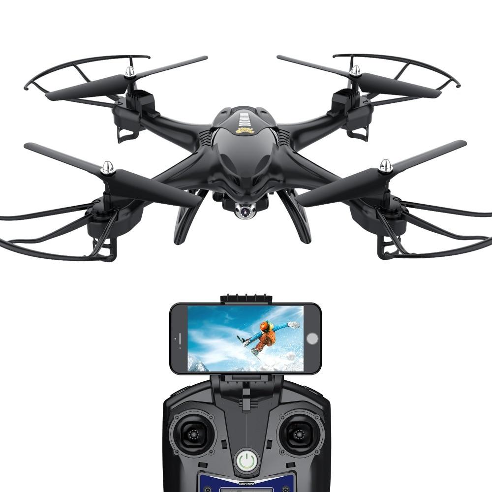 [ЕС и США наличии] святой камень HS200 Drone Wi-Fi FPV видео камера 720P HD Радиоуправляемый Дрон горючего высоты переворачивает Headless режим черный