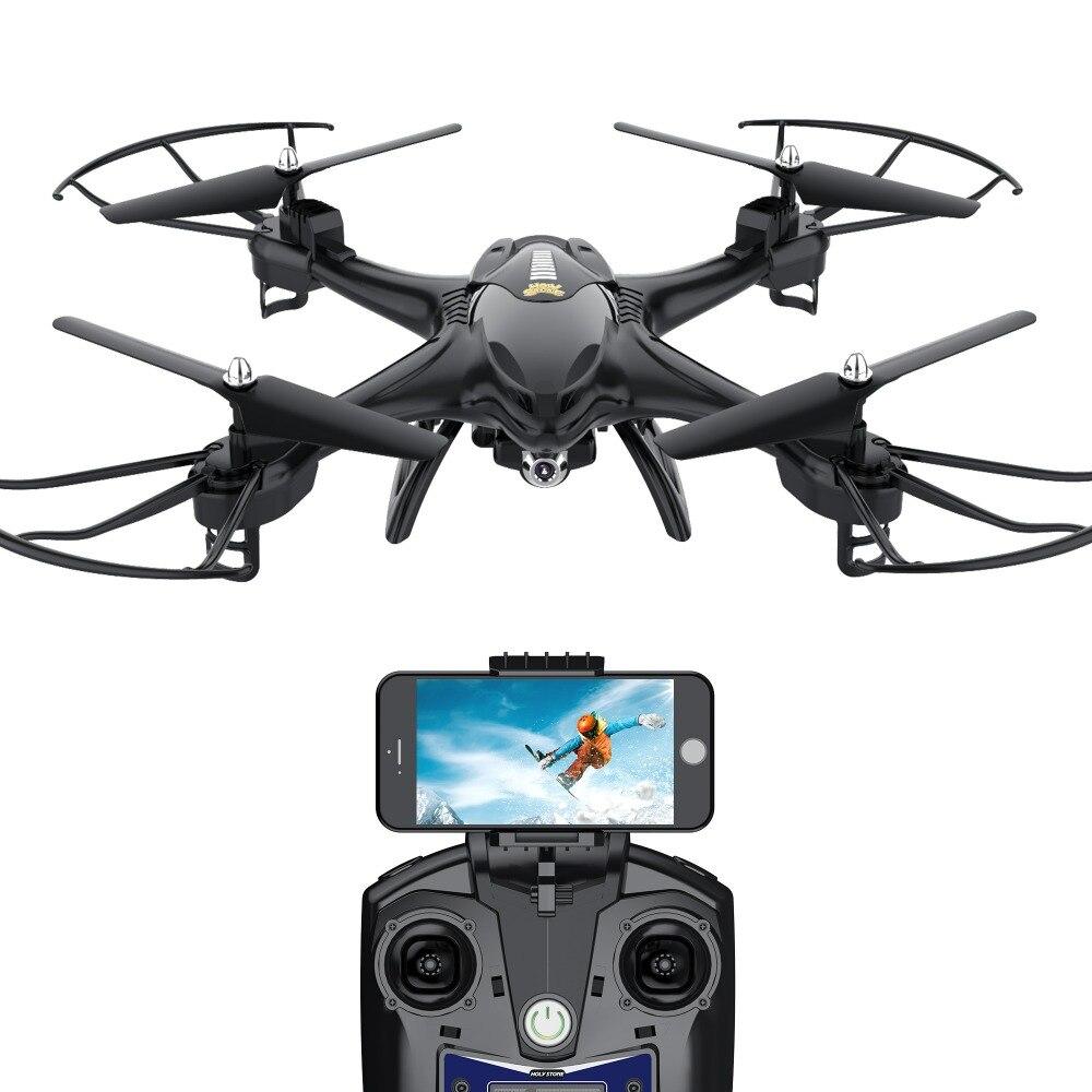 [UE USA Stock] Saint Pierre HS200 Drone Wifi FPV Vidéo 720 p Caméra HD RC Drone Quadcopter Altitude tenir Flips Sans Tête Mode Noir