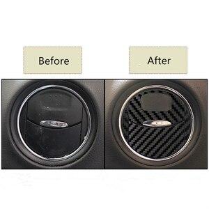 Image 5 - Autocollants pour la sortie de climatisation de voiture, en Fiber de carbone, décoration autocollante en vinyle pour Ford Mondeo MK3, accessoires de voiture, 4 pièces/ensemble