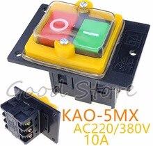 1 قطعة KAO 5MX 10A 380 فولت لقطع آلة مقاعد البدلاء الحفر التبديل مفتاح بـزر دفع مقاوم للماء السلطة على/قبالة التبديل KAO 5