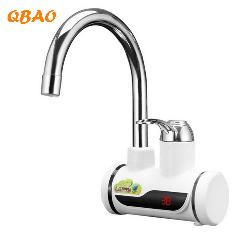Kitchen Faucet with Heater 220V 3000W Instant Pot Hot Water Electric Boiler Tankless Heating Element with Temperature Display ...