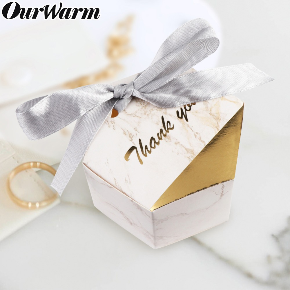 53cc1f2dd227 OurWarm 10 20 50pcs Marbling Candy Box Paper Box Cardboard Gift Box Wedding  Birthday