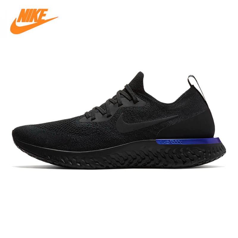 Nike Epic React Flyknit Men's Running Shoes,Outdoor Sneakers Shoes, Black Grey, Non-slip, Breathable AQ0067 004 AQ0067 100