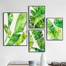 HAOCHU Green Plants Poster For Living Room Home Decor Painting Print Poster Simple Nordic Wall Picture Canvas Painting haochu nordic landscape canvas art print painting poster modern fresh hazy plants character home wall decoration for living room