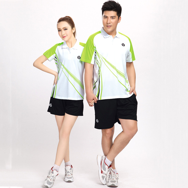 Table Tennis Jerseys Men & Women Badminton Training suit jersey & shorts Set empty Style Short-sleeved Running Wear Tennis