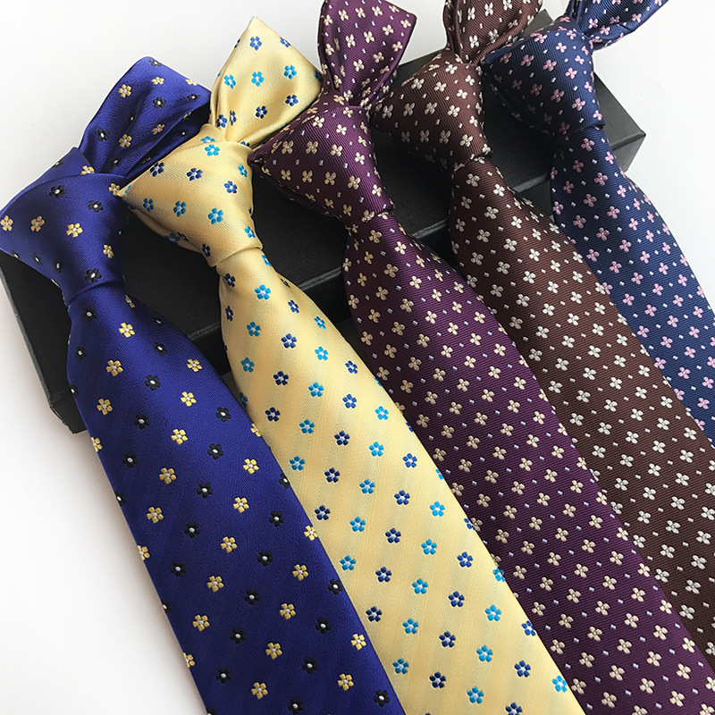 20 Styles Flower  Ties For Men Wedding Business Christmas Jacquard Gravatas Silk Ties 8cm Fashion Mens Ties 2019 Corbatas