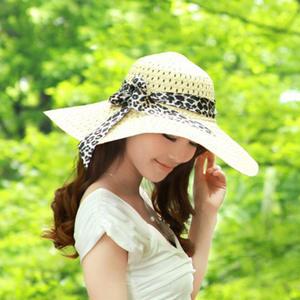 6f6a91c102c FOURONE Women Summer Straw Girl Beach Panama Cap Lady Hat