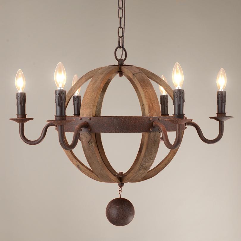 Amerikanischen Wohnzimmer Pendelleuchten Holz Sphrische Beleuchtung Lampen Whisky Beerbarrel Ball Form Hngende Lampe Droplight