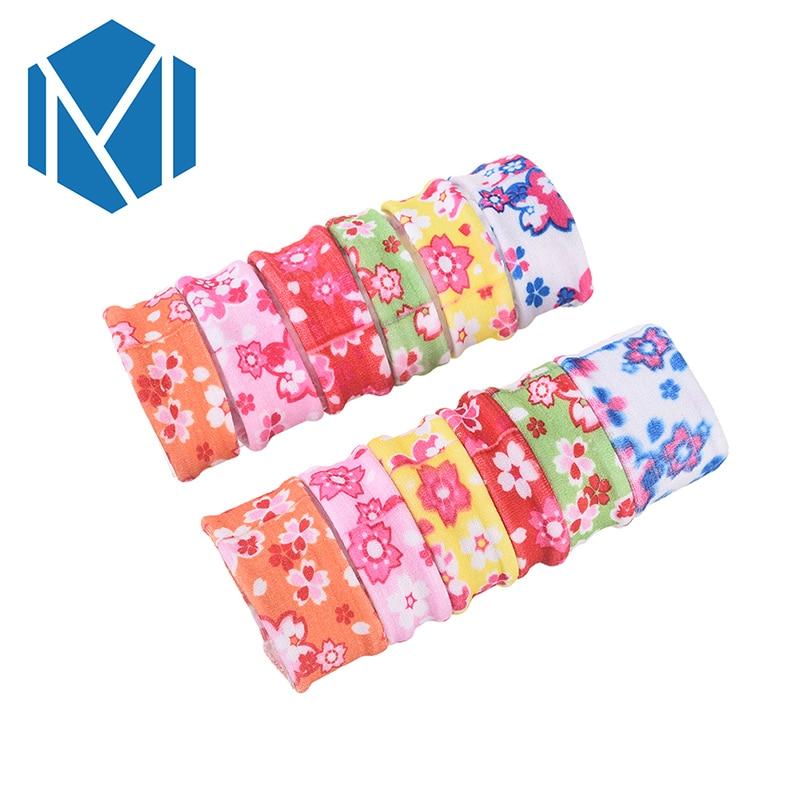 M MISM 12PCS Flower Print Elastic Hair Bands Gum for Hair Bezel For Kids Girls Rubber Hair Accessories Scrunchy Ties