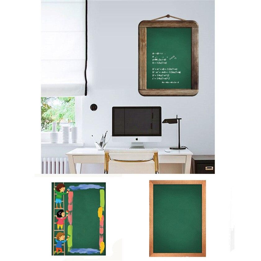 Wallpaper Sticker HOT Green Chalk Board Blackboard Removable Vinyl Wall Wallpapers For Living Room 2018 B#