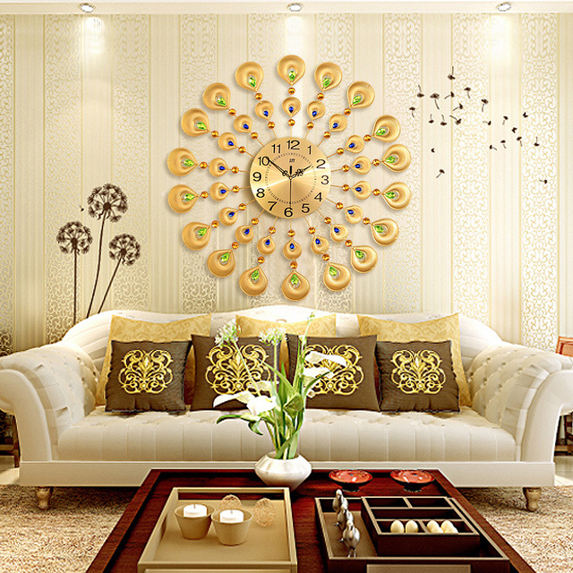 Home Decor Large wall clock Modern Design Large Decorative Wall ...