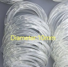10Meters/Lot  Diameter:10mm  PU Transparent Round Belt Conveyor Belt white food belt цена и фото