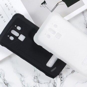 Перейти на Алиэкспресс и купить Doogee S90 Pro крышка, силиконовый чехол, мягкий ТПУ матовый пудинг, твердый черный защитный чехол для телефона Doogee S 90 Capa Coque 6,18 дюймов