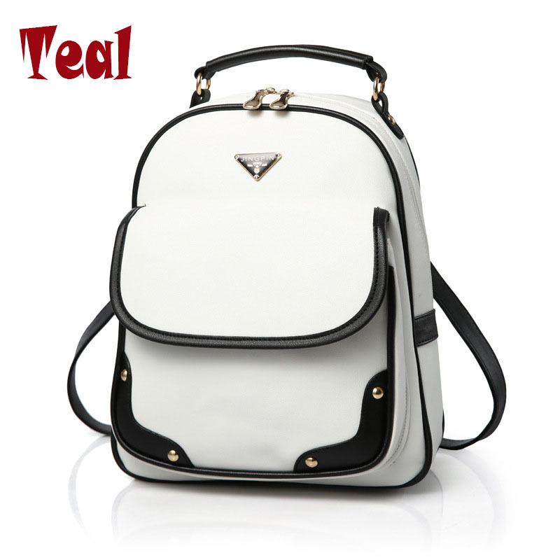 2017 fashion Women Backpack High Quality PU Leather Mochila Escolar School Bags For Teenagers Girls Top