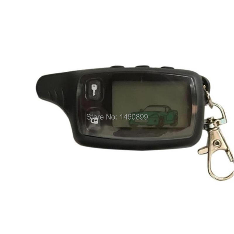 TW-9010 LCD Controle Remoto Fob Chave para Chaveiro Tomahawk Russa TW9010 Two-Way Sistema de Alarme de Carro Tomahawk TW 9010