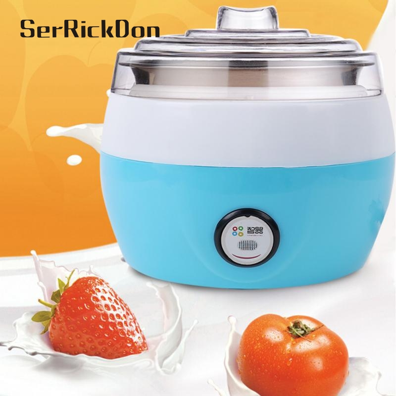 Electric multifunction Yogurt Machine Stainless Steel Liner Mini Automatic Yogurt Maker 1L Capacity cukyi household electric multi function cooker 220v stainless steel colorful stew cook steam machine 5 in 1