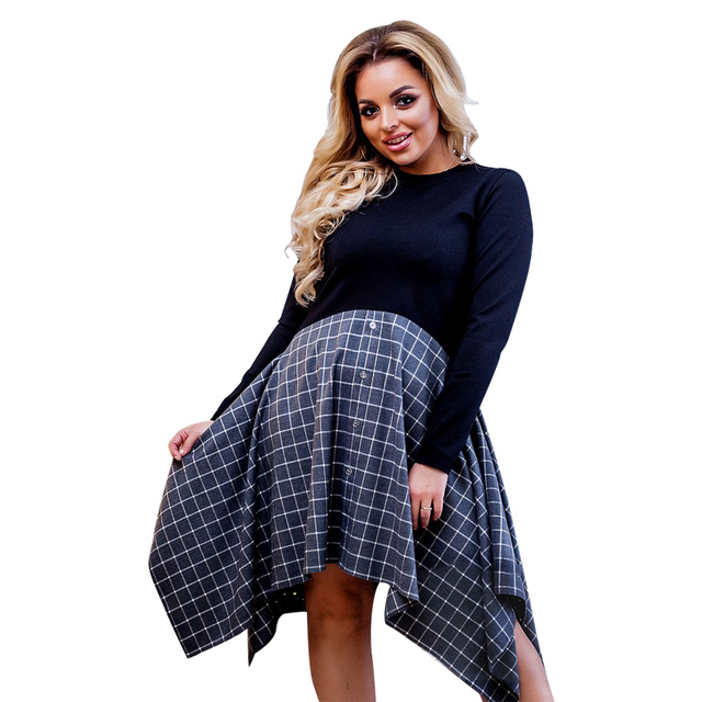 Winter Dress Casual Women plus size