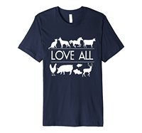 Love All Vegan Vegetarian Animal Rights T Shirt Cotton Low Price Top Tee For Teen Boys