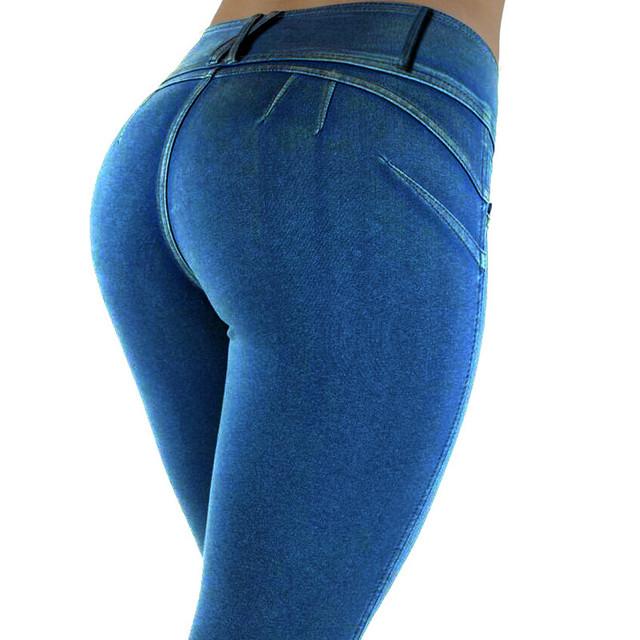 Las mujeres de talle bajo lápiz pantalones 2016 otoño moda khaki pant empuja hacia arriba elástico jeggings sexy culturismo pantalones femeninos más el tamaño