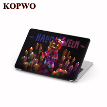 KOPWO Halloween Laptop Protective Hard Case Transparent Notebook Cover for New Apple Macbook Air Pro 11 12 13.3 15 Inch Retina