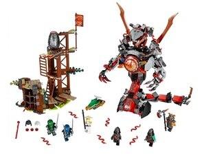 Image 2 - Bela 734 figuras del amanecer de Iron Doom Ninja, conjunto de Mini figuras compatibles con Ninjagoes 10583, Juguetes de bloques de construcción para niños, 70626