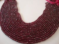 Rhodolite Garnet beads micro faceted wholesale lot 15 strands size 2 4mm lth 13 Inches each