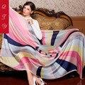 Мода Атласная Шелковый Шарф женщины Шаль большой размер бандана платки шарф люксовый бренд пашмины женщина дизайнер мягкий пончо и накидки