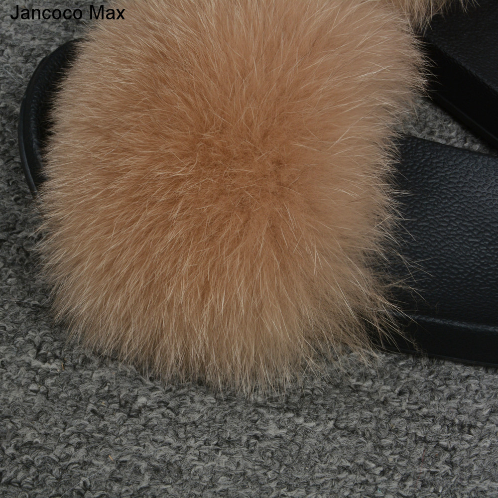 Jancoco Max 2019 Kids Real Fox Fur Girls Slipper Spring Summer Natural Fur Slides Children Indoor Outdoor S60 GLOve24 in Women 39 s Gloves from Apparel Accessories