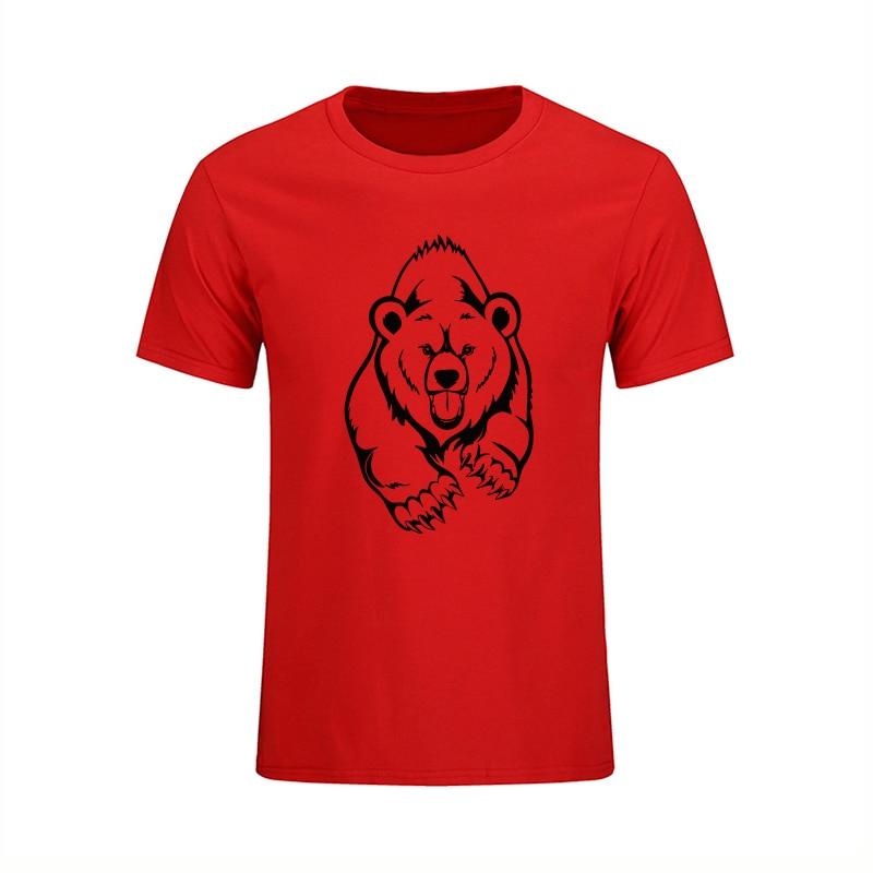 NUEVA Llegada Verano Grizzly Camiseta Hombre Oso Marrón Estampado - Ropa de hombre - foto 3